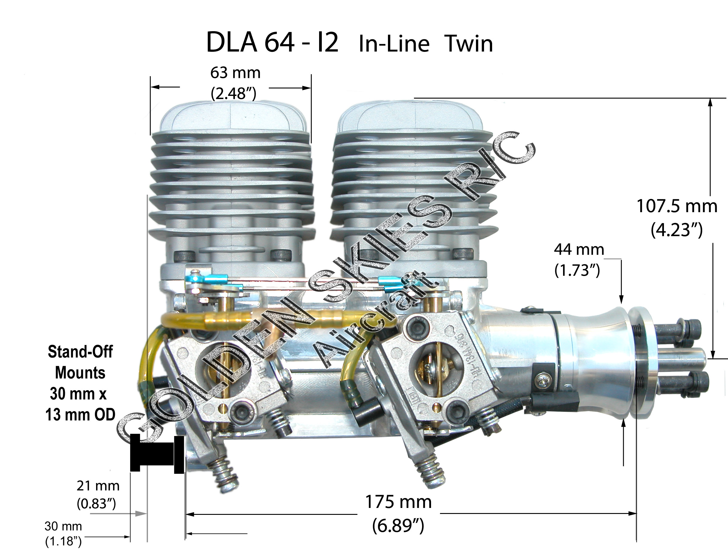 DLA 64cc Twin Engine